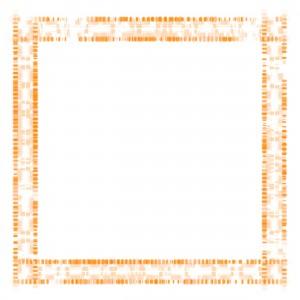 Красный квадрат с исчезающими точками по всему периметру.