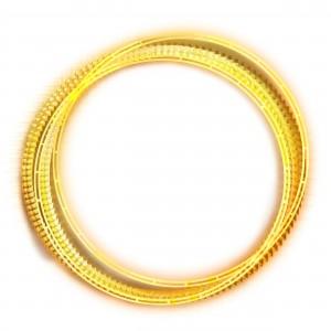 Несколько золотых колец сложили абстрактную рамку.