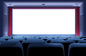 Огромный экран центрального кинозала страны.