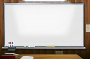 Доска для проекции презентаций в огромной аудитории.