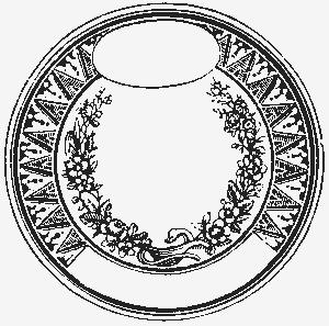 Круглая рамка с местом для надписи и овальчиком для какого-нибудь символа