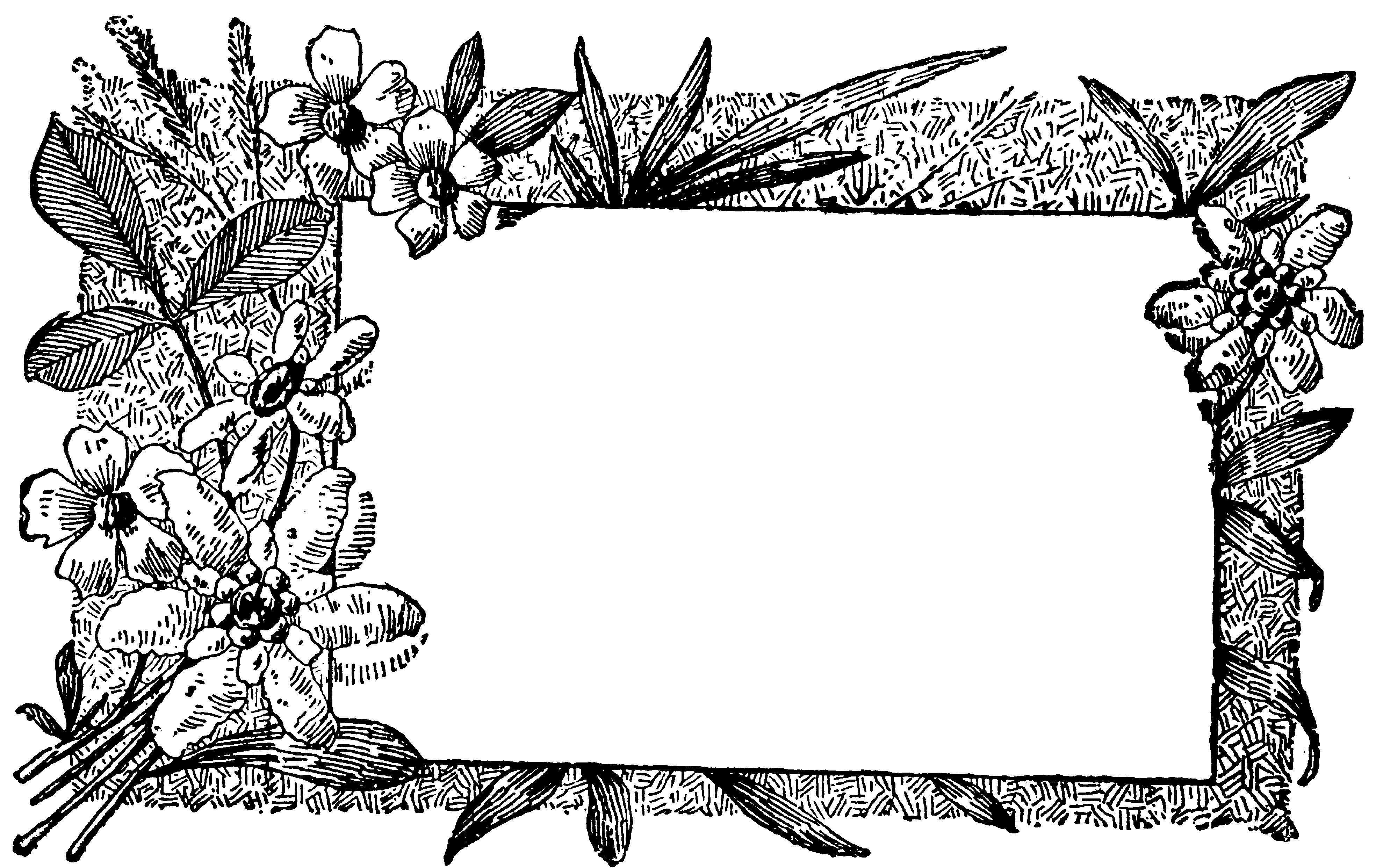 Открытки днем, графическая рамка для открыток