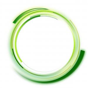 Зеленая фоторамочка. Вихрь закрученных изумрудных полос разной длинный и оттенков.