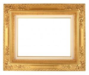 Золотая рамка для картины