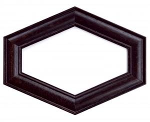 Фоторамка чёрный шестиугольник