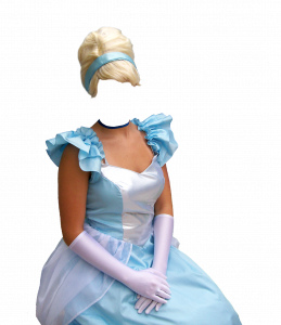 Женские шаблоны и костюмы для фотошопа - 74. Женщина в бальном платье.