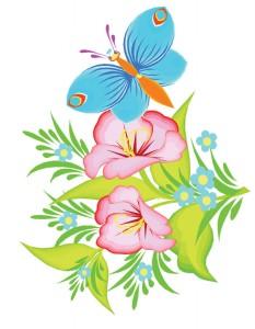 Клипарт летние цветы