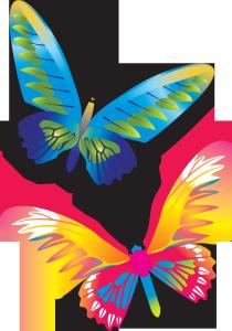 Клипарт красивые бабочки