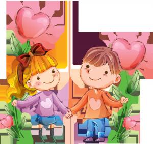 Клипарт мальчик и девочка