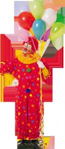 клипарт клоун с воздушными шарами