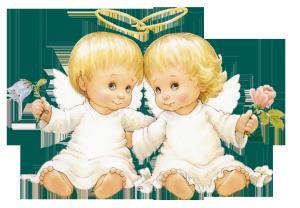 Клипарт картинка ангелочки на прозрачном фоне