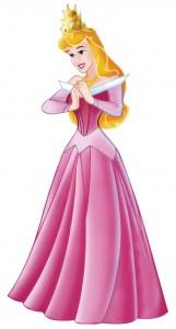 Клипарт принцесса в розовом платье