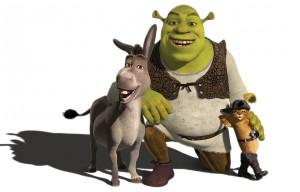 Клипарт Шрек, ослик и кот