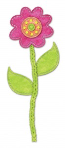 Фантазийный цветочек, выполненный из ткани.