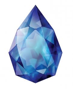 Клипарт сапфир. Яхонт лазоревый – так называли на Руси великолепный синий сапфир.