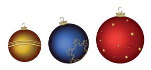 Новогодние шары. Яркие елочные украшения необходимы в альбоме с новогодними фотографиями.
