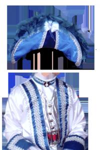 Детские шаблоны для фотошопа - 161. Мушкетёр в синем костюме и, разумеется, шляпе с перьями.
