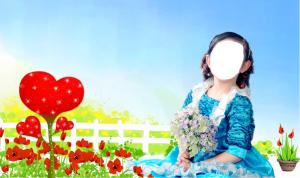 Детские шаблоны для фотошопа - 4. Голубое платье