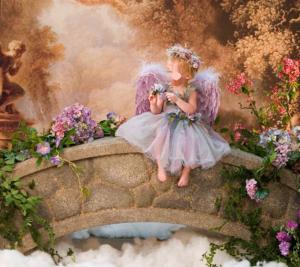 Детские шаблоны для фотошопа - 65. Девочка ангел