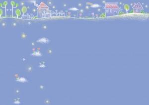 Фон для фотошопа - 108. Рисованный сказочный город.