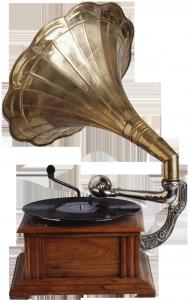 Винтажный граммофон хорошо впишется в ретро коллаж.