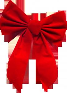 красный бант на праздничную или юбилейную открытку.