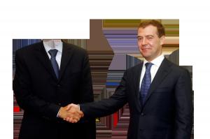Мужские шаблоны и костюмы для фотошопа - 169. Шаблон для фотошопа с Медведевым.