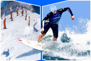 Мужские шаблоны и костюмы для фотошопа - 180. Полеты среди волн и снегов.