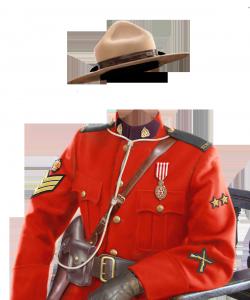 Мужские шаблоны и костюмы для фотошопа - 208. Красивая форма канадской конной полиции каждому к лицу.