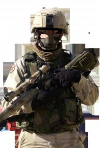 Мужские шаблоны и костюмы для фотошопа - 217. Вооружен и очень опасен!