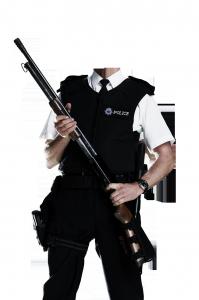 Мужские шаблоны и костюмы для фотошопа - 221. Правопорядок надо защищать с оружием в руках.