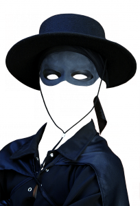 Мужские шаблоны и костюмы для фотошопа - 249. Для легендарного Зорро нет непреодолимых препятствий, в т.ч. и в делах любовных.