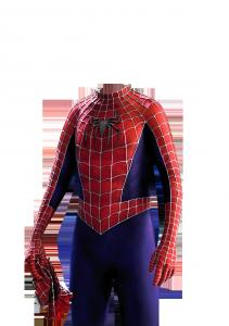 Мужские шаблоны и костюмы для фотошопа - 250. В костюме спайдермена легко почувствовать себя супергероем.