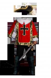 Мужские шаблоны и костюмы для фотошопа - 305. Гвардейцы кардинала тоже храбрые ребята.
