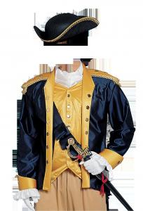 Мужские шаблоны и костюмы для фотошопа - 31. Костюм бравого гвардейца-федерала эпохи колониальных войн.