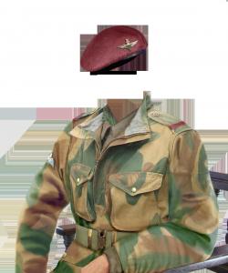 Мужские шаблоны и костюмы для фотошопа - 56. Малиновые береты с гордостью носят воздушные и морские десантники многих стран мира.