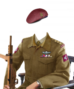 Мужские шаблоны и костюмы для фотошопа - 59. Бравому вояке по плечу самые сложные задачи, в том числе и на любовном фронте.