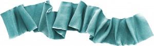Голубая лента-тесемка для выделения важности в послании.