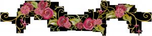 Рисованное украшение из роз для украшения женских фото.