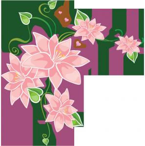 розовые цветы для оформления