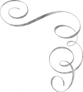 Серебристый угловой узор красиво оформит любую картину.