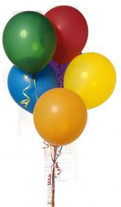 Связка ярких воздушных шаров тоже может стать букетом, неожиданным и приятным.