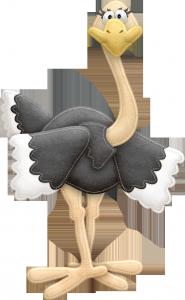 Клипарт страус