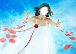 Женские шаблоны и костюмы для фотошопа - 02. Небесная фея адресует людям флюиды любви и теплоты