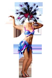 Женские шаблоны и костюмы для фотошопа - 109. Костюм для фотомонтажа - Карнавал