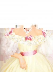 Женские шаблоны и костюмы для фотошопа - 137. Легкий наряд для бала