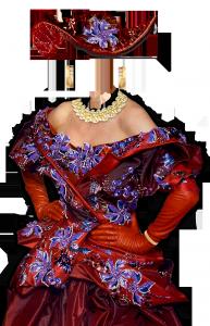 Женские шаблоны и костюмы для фотошопа - 175. Шикарный гардероб придворной дамы