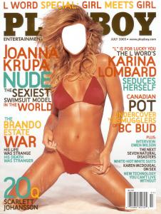 Женские шаблоны и костюмы для фотошопа - 19. Ваше фото на обложке журнала Playboy