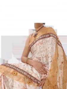 Женские шаблоны и костюмы для фотошопа - 207. Костюм для фотошопа - сари.