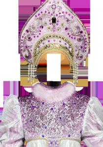 Женские шаблоны и костюмы для фотошопа - 21. Наряд русской Аленушки в кокошнике